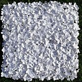 WHITE BLOSSOM 50CM X 50CM – SILK FLOWER HEDGE PANEL